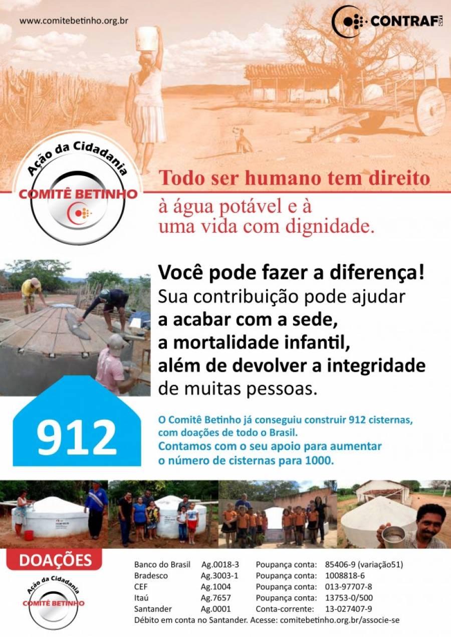 Contraf-CUT apoia projetos sociais do Comitê Betinho