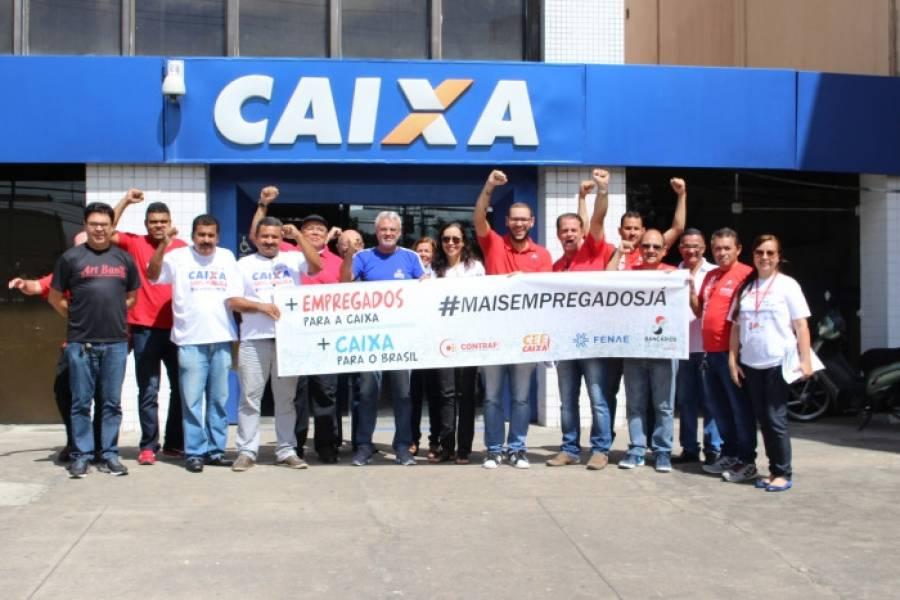 Dia Nacional de Luta cobra respeito aos empregados da Caixa