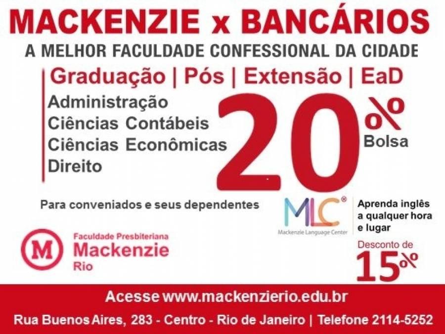 Sindicato dos Bancários da Baixada Fluminense firma convênio com Faculdade Mackenzie