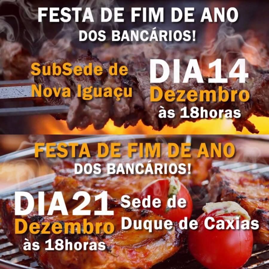 Festas de fim de ano dos Bancários da Baixada tem datas definidas
